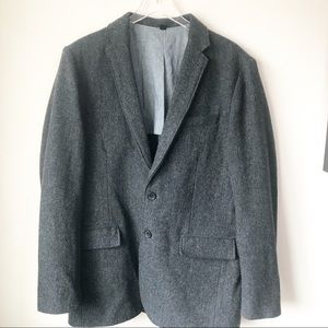 Men's gray wool blazer